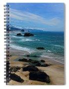 Beach At Ecola State Park Spiral Notebook