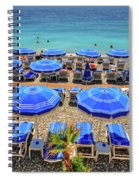 Beach At Nice France Spiral Notebook
