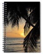Beach At Sunset 1 Spiral Notebook