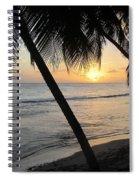 Beach At Sunset 4 Spiral Notebook