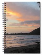 Beach At Sunset 6 Spiral Notebook