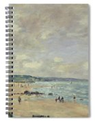 Beach At Trouville Spiral Notebook