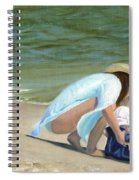 Beach Baby Spiral Notebook