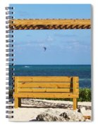 Beach Bench Spiral Notebook