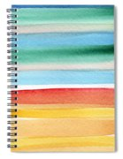 Beach Blanket- Colorful Abstract Painting Spiral Notebook