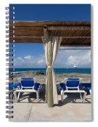 Beach Cabana With Lounge Chairs Spiral Notebook