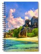Beach Cove On La Digue Spiral Notebook