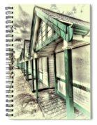 Beach Huts 1 Spiral Notebook