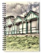 Beach Huts 4 Spiral Notebook