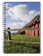 Beach Huts At Branscombe Spiral Notebook