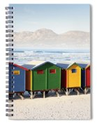 Beach Huts At Muizenberg Spiral Notebook
