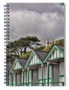 Beach Huts Langland Bay Swansea 3 Spiral Notebook