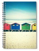 Beach Huts Muizenberg Retro Spiral Notebook