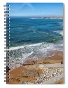 Beach In Resort Town Of Estoril Spiral Notebook