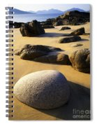 Beach Of Gold Spiral Notebook