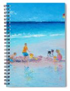 Beach Painting Building Sandcastles By Jan Matson Spiral Notebook