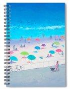 Beach Painting - Happy Days Spiral Notebook