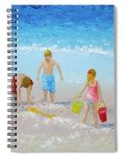 Beach Painting - Sandcastles Spiral Notebook