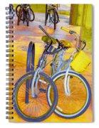 Beach Parking For Bikes Spiral Notebook