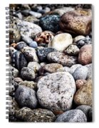 Pebbles On Beach Spiral Notebook