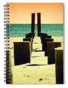 Beach Pylons Spiral Notebook