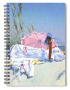 Beach Recliner Spiral Notebook