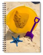Beach Sand Pail And Shovel Spiral Notebook