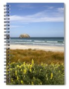 Beach Scene Otago Peninsula South Island New Zealand Spiral Notebook