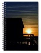 Beach Shack Silhouette Spiral Notebook