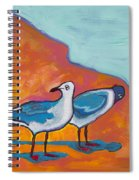 Beach Shadows Spiral Notebook