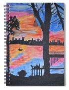 Beach Silhouette Spiral Notebook