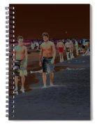 Beach Solar Series Vii Usa Spiral Notebook