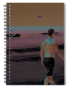 Beach Solar Series Xi Woman Swimming Usa Spiral Notebook