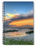 Beach Sunset Spiral Notebook