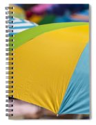 Beach Umbrella Rainbow 1 Spiral Notebook