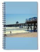 Beach View With Pier 1 Spiral Notebook