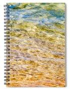 Beach Water Abstract Spiral Notebook