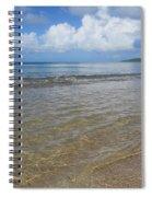 Beach Waves Tall Spiral Notebook