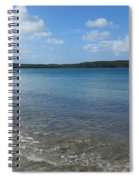 Beach Waves Wide Spiral Notebook