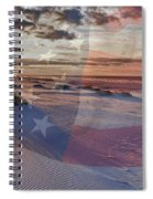 Beach With Flag Spiral Notebook