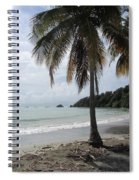 Beach With Palm Tree Spiral Notebook