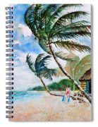Beach With Palm Trees Spiral Notebook