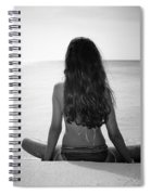 Beach Yoga Spiral Notebook