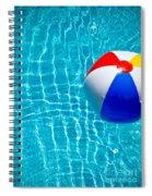 Beachball On Pool Spiral Notebook