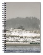 Beached Boat Winter Storm Spiral Notebook
