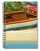 Beached Fishing Boat Of The Caribbean Spiral Notebook