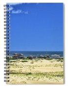 Beachouses As Seen From Jockey's Ridge State Park Spiral Notebook