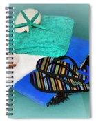 Beachy Things - Aqua Blue Spiral Notebook