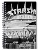 Beam Me Up Scotty Bw Spiral Notebook