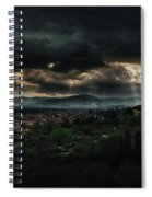 Beams Of Light Over Florence Spiral Notebook